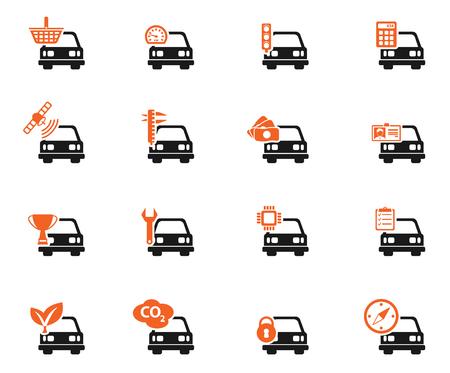 Serwis samochodowy prostu ikony dla sieci