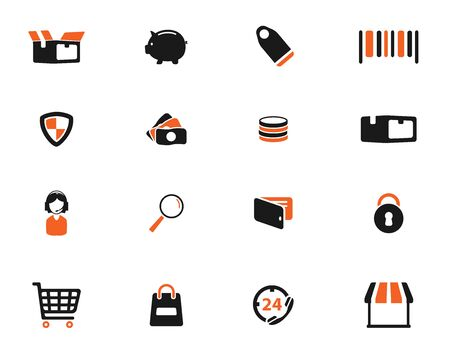 bank cart: E-commerce simply icons for web Illustration