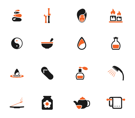 medical shower: Spa simply icons for web