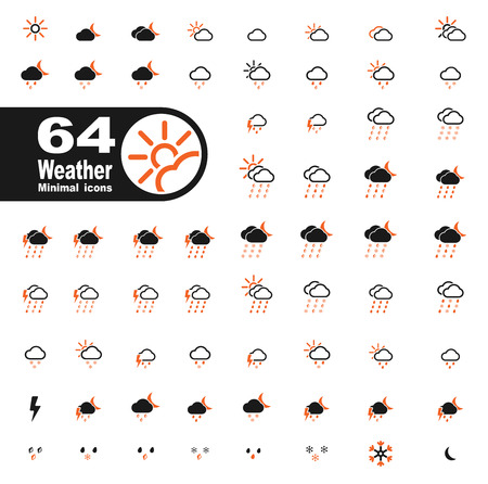 downpour: Weather simply icons