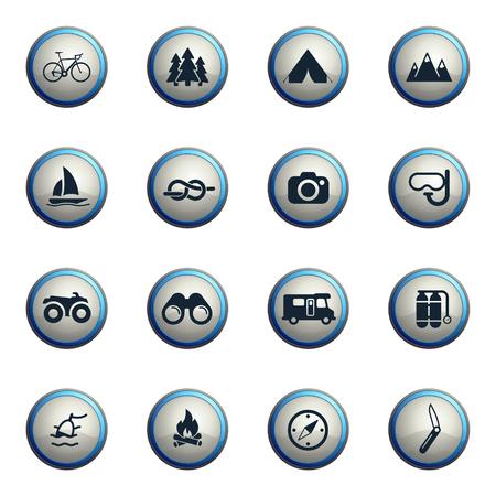 ricreazione: Icone ricreazione cromo attivi per il web Vettoriali