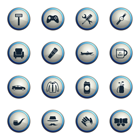 smocking: Fathers day chrome icons for web
