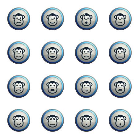 skepticism: Monkey emotions chrome icons for web