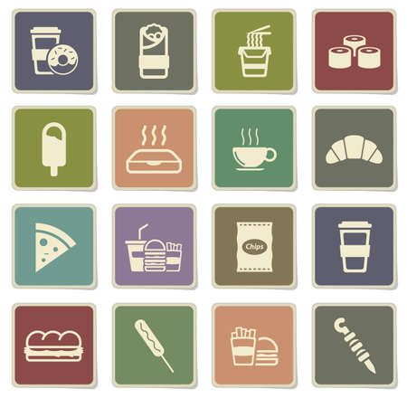 pack ice: Fast food label icons for web