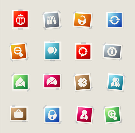 ring binder: Business card icons for web