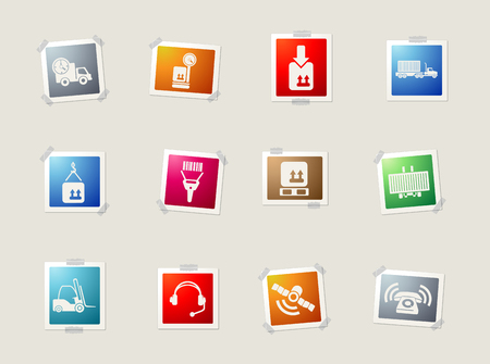 overnight delivery: Logistics card icons for web