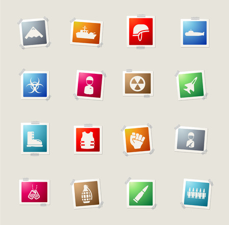 biological hazards: Military card icons for web
