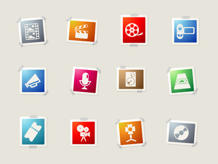 spot lit: Film Industry card icons for web