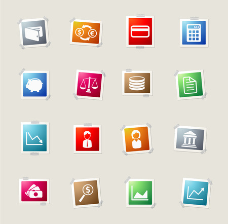 woman credit card: Finance card icons for web