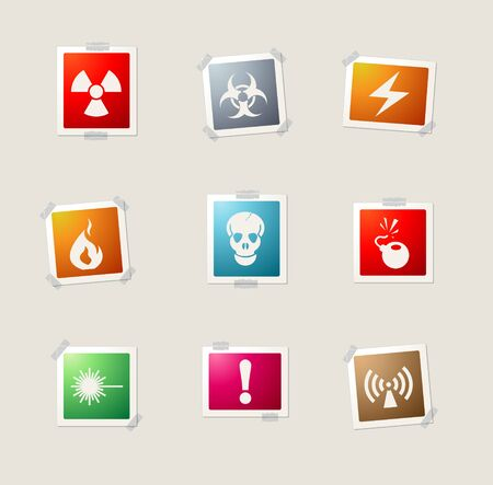 Hazard Sign card icons for web
