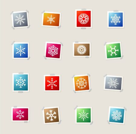 snowfalls: Snowflakes card icons for web