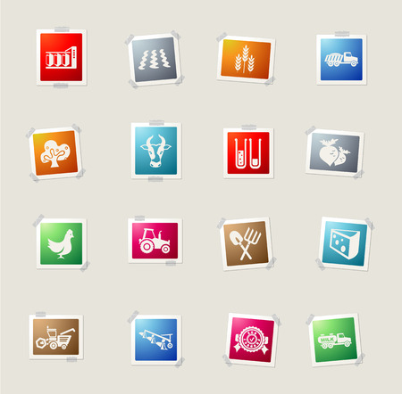 agricultural: agricultural icon card icons for web Illustration
