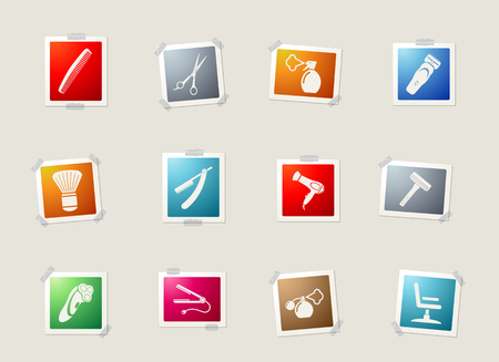 hedge: Barbershop card icons for web