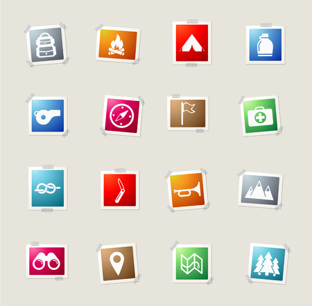 binoculars view: Boy scout card icons for web