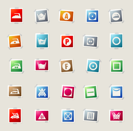 dry cleaned: Laundry card icons for web