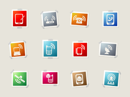 wireless hot spot: Mobile card icons for web