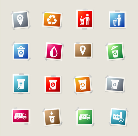 incineration: Garbage card icons for web