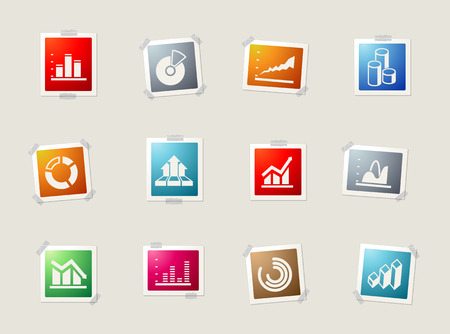 information graphic. card icons for web