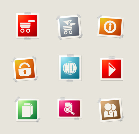 internet search: Web site card icons for web