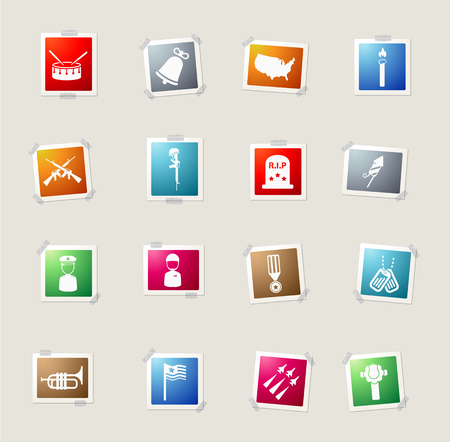 epaulettes: Memorial day card icons for web