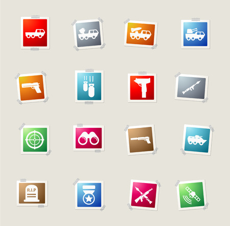 bombing: Military card icons for web