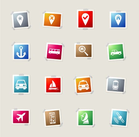 locate: Navigation card icons for web