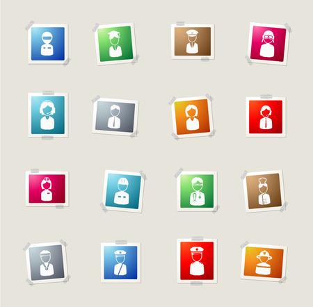 ocupation: Ocupation card icons for web Illustration