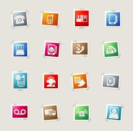 directorio telefonico: Iconos de la tarjeta telefónica para web Vectores