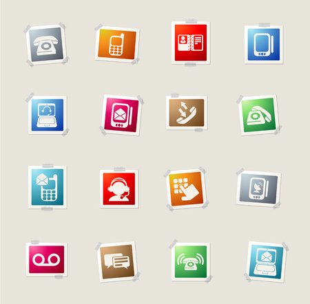mobile voip: Telephone card icons for web