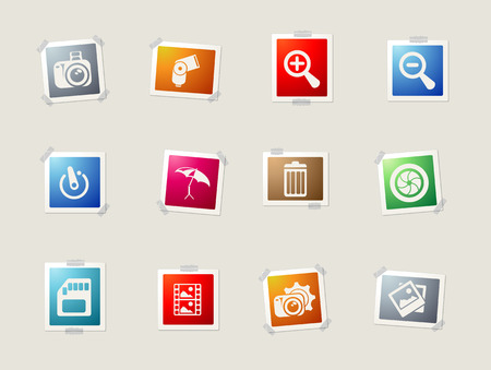 conformity: Photography card icons for web