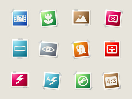 modes: Photography card icons for web