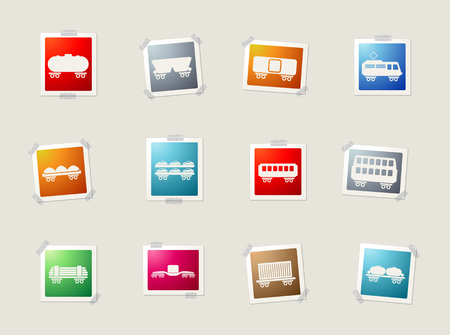 storage tank: rail-freight traffic card icons for web