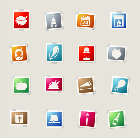 settler: Thanksgiving card icons for web