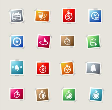 reloj de pared: Time card icons for web