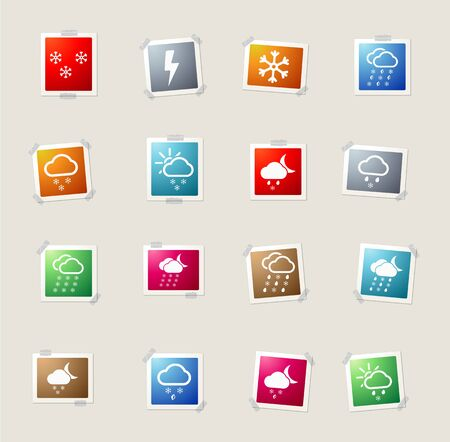 snowfalls: Weather card icons for web