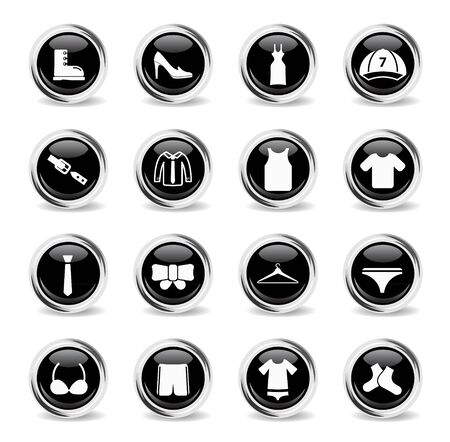 Clothes chrome icons for web
