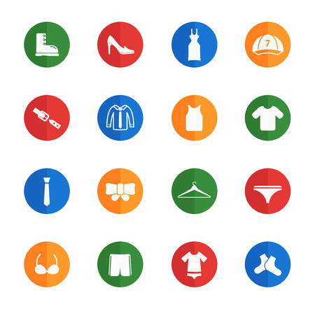 Clothes flat icons for web