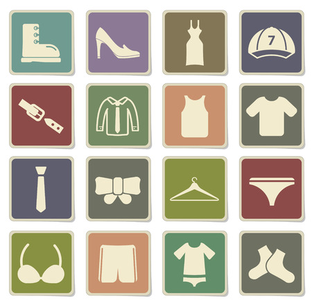 Clothes label icons for web Illustration