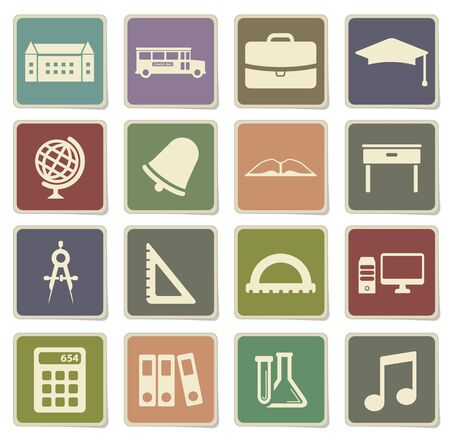 School label icons for web