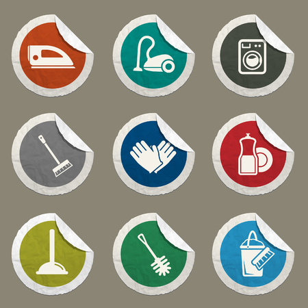 wipe: Cleaning sticker icons for web