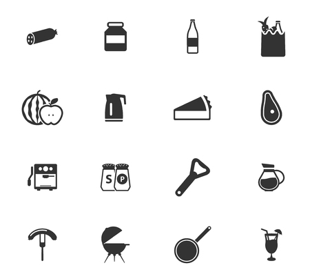 boiling tube: Food and kitchen simple icons for web