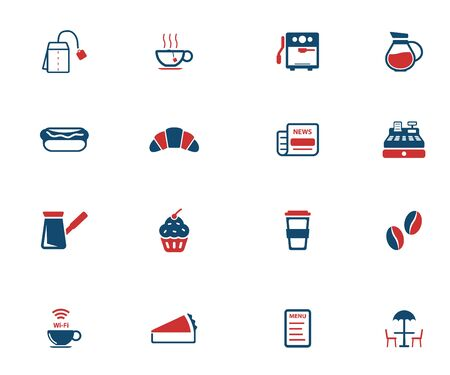 simply: Cafe simply icons for web Illustration