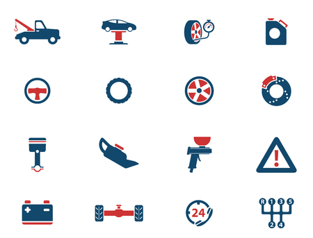 car tire: Car service simply icons for web