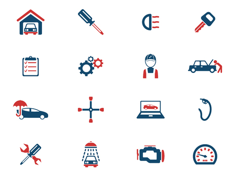 car garage: Car service simply icons for web