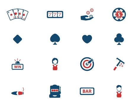 online roulette: Casino simply icons for web