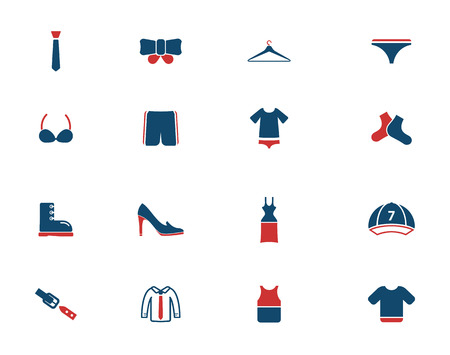 Clothes simply icons for web