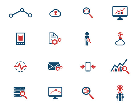 analytic: Data analytic simply icons for web Illustration