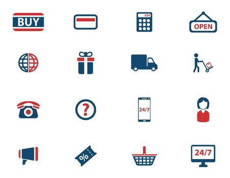 shopping questions: E-commerce simply icons for web Illustration