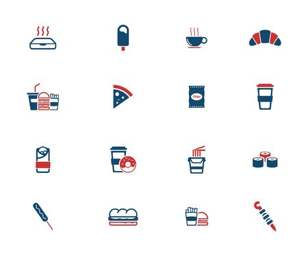 pack ice: Fast food simple icons for web