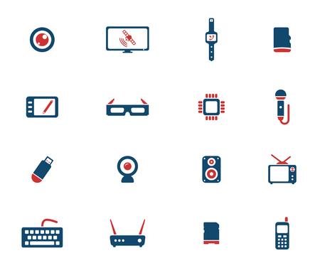 micro drive: Gadgets simply icons for web Illustration
